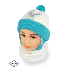 Komplet czapka i szalik - chłopak - CN155