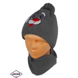 Komplet czapka i szalik - chłopak - CN159