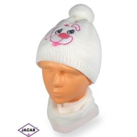 Komplet czapka i szalik - dziewczynka - CN162