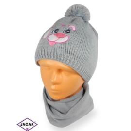 Komplet czapka i szalik - dziewczynka - CN163
