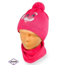 Komplet czapka i szalik - dziewczynka - CN164