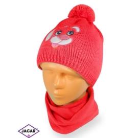 Komplet czapka i szalik - dziewczynka - CN165