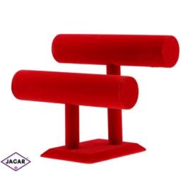 Ekspozytor bransoletki - czerwony - wys:21cm EKS04