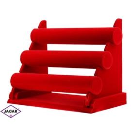 Ekspozytor bransoletki - czerwony wys:23,5cm EKS05