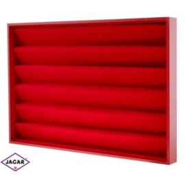 Ekspozytor na kolczyki - czerwony -  dł:35cm EKS07