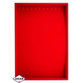 Ekspozytor na łańcuszki - czerwony wys:36cm EKS10