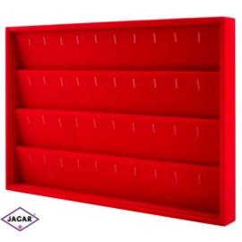 Ekspozytor na kolczyki czerwony 35cm x 24cm EKS12