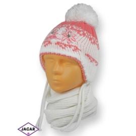 Komplet czapka i szalik - dziewczynka - CN176