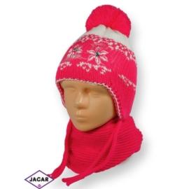 Komplet czapka i szalik - dziewczynka - CN177