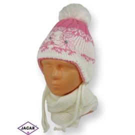 Komplet czapka i szalik - dziewczynka - CN178