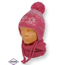Komplet czapka i szalik - dziewczynka - CN179