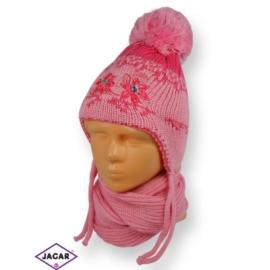 Komplet czapka i szalik - dziewczynka - CN180