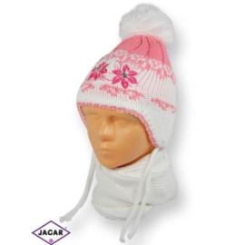 Komplet czapka i szalik - dziewczynka - CN181