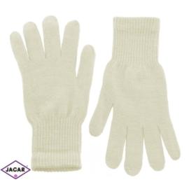 Klasyczne rękawiczki damskie - ecru - RK330