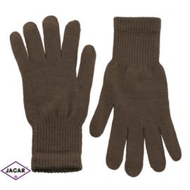 Klasyczne rękawiczki damskie - jasny brąz - RK335