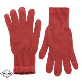 Klasyczne rękawiczki damskie - czerwony - RK338