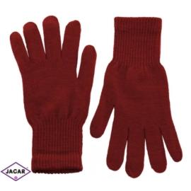 Klasyczne rękawiczki damskie - bordowy - RK339