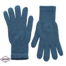 Klasyczne rękawiczki damskie - niebieski - RK341