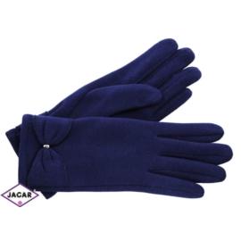 Eleganckie rękawiczki damskie - granatowe - RK345