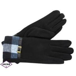 Eleganckie rękawiczki damskie - czarne - RK346