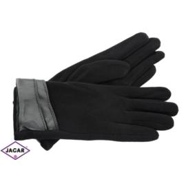 Eleganckie rękawiczki damskie - czarne - RK348