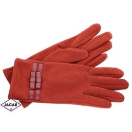 Eleganckie rękawiczki damskie - czerwone - RK349