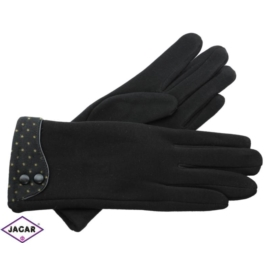 Eleganckie rękawiczki damskie - czarne - RK350