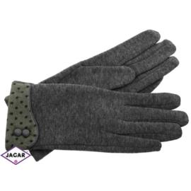 Eleganckie rękawiczki damskie - szare - RK351