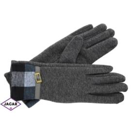Eleganckie rękawiczki damskie - szare - RK352