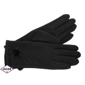 Eleganckie rękawiczki damskie - czarne - RK353