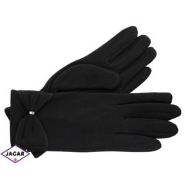 Eleganckie rękawiczki damskie - czarne - RK354