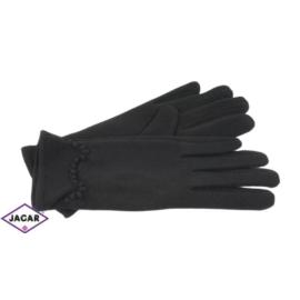 Eleganckie rękawiczki damskie - czarne - RK371