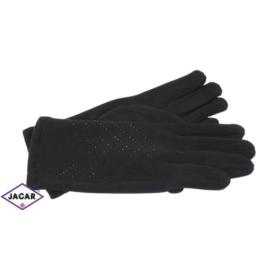 Eleganckie rękawiczki damskie - czarne - RK372