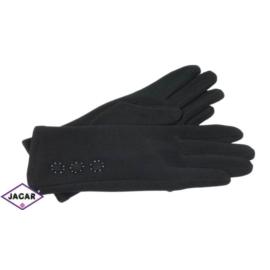 Eleganckie rękawiczki damskie - czarne - RK373