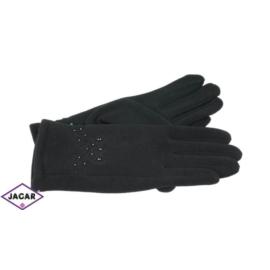 Eleganckie rękawiczki damskie - czarne - RK374