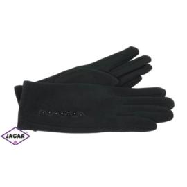 Eleganckie rękawiczki damskie - czarne - RK375