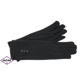 Eleganckie rękawiczki damskie - czarne - RK376