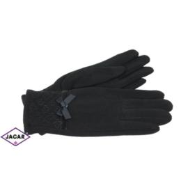 Eleganckie rękawiczki damskie - czarne - RK377