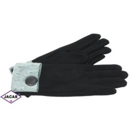 Eleganckie rękawiczki damskie - czarne - RK378