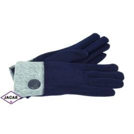 Eleganckie rękawiczki damskie - granatowe - RK379