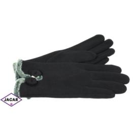 Eleganckie rękawiczki damskie - czarne - RK380
