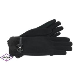 Eleganckie rękawiczki damskie - czarne - RK381