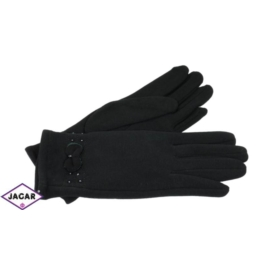 Eleganckie rękawiczki damskie - czarne - RK382