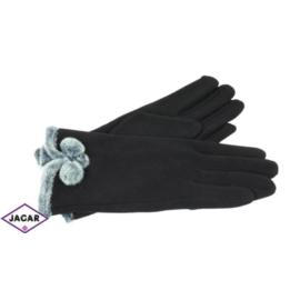 Eleganckie rękawiczki damskie - czarne - RK383