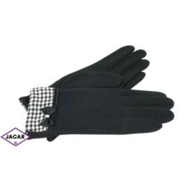 Eleganckie rękawiczki damskie - czarne - RK384