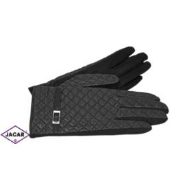 Eleganckie rękawiczki damskie - czarne - RK386