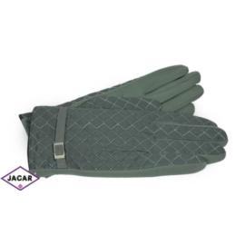 Eleganckie rękawiczki damskie - szare - RK387