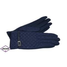 Eleganckie rękawiczki damskie - granatowe - RK388