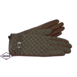 Eleganckie rękawiczki damskie - brązowe - RK389