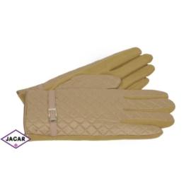 Eleganckie rękawiczki damskie - beżowe - RK390